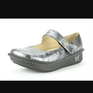 Alegria Shoes - Alegria paloma pewter black tumble slip on butterf