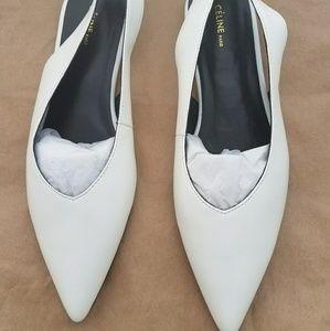 Celine Shoes - Celine Size 39 White Slingback Flats