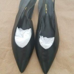 Celine Shoes - Celine Size 39 Black Slingback Flats