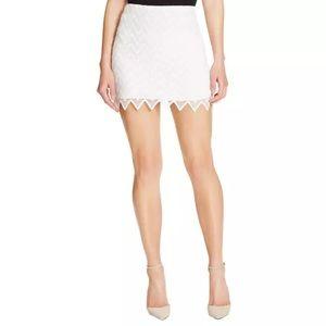 Aqua Dresses & Skirts - Aqua White Lined Zig Zag Pattern A-line Mini Skirt