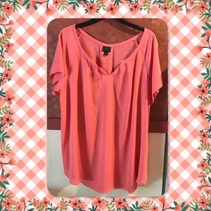 Worthington Woman Short Sleeved Dress Blouse