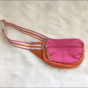 90's Vintage Pink & Orange Fanny Pack