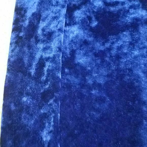 forever 21 blue velvet mini pencil skirt unique