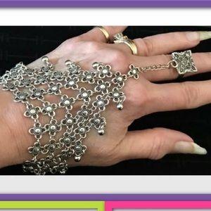 Jewelry - TIBETAN SILVER MESH HAND BRACELET OR FOOT/ANKLET