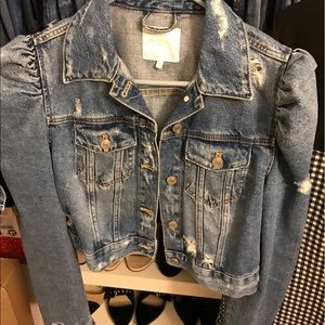 bd6c695a Zara Jackets & Coats | Denim Jacket With Puff Sleeves | Poshmark