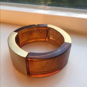 Kenneth Jay Lane Jewelry - Kenneth Jay Lane tortoise & gold resin bracelet