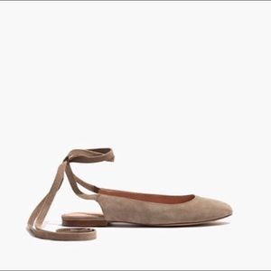 MADEWELL Ankle-Wrap Flats