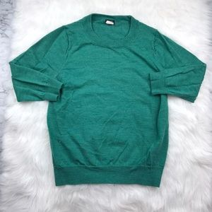 "J. Crew Merino Wool Green ""Tippi"" sweater"