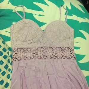Millau Dresses & Skirts - LF millau Lilac lavender small high low dress lace