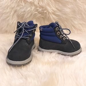 Timberland Other - TIMBERLANDS toddler navy blue high top boots
