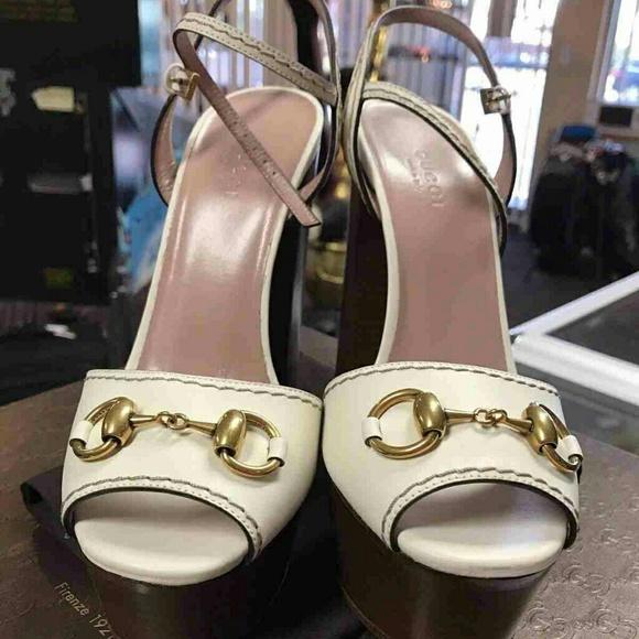 19e8aebd2 Gucci Shoes | New Claudie Horsebit Block Heel Sandal | Poshmark