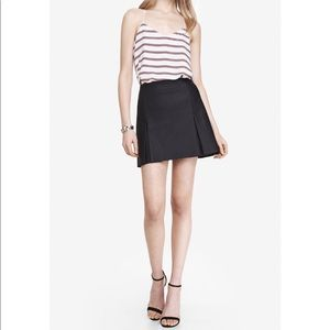 Express faux leather skirt mini pleated 4