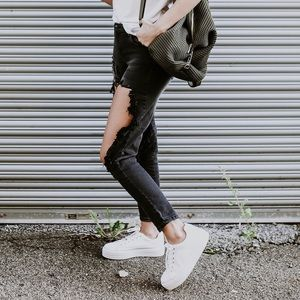 Destructed Black Skinny Jeans