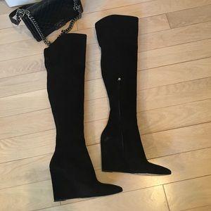 Pour La Victoire Shoes - Gorgeous over knee suede boots