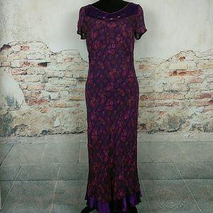 April Cornell Dresses & Skirts - April Cornell Small Purple Floral Chiffon Dress