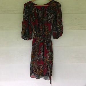 enfocus woman Dresses & Skirts - Maroon paisley dress