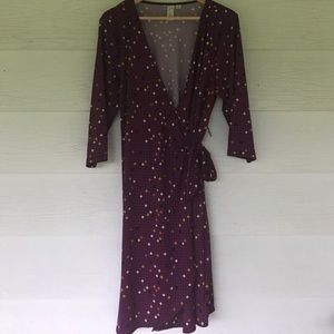 emma & michele Dresses & Skirts - Purple wrap dress