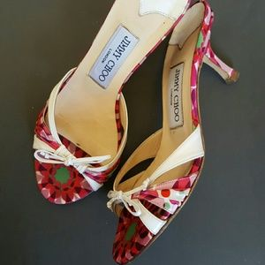 Jimmy Choo Shoes - Authentic Jimmy Choo Pink Mules Size 35