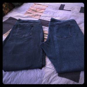 HUE Pants - HUE Pull On Denim Legging Bundle