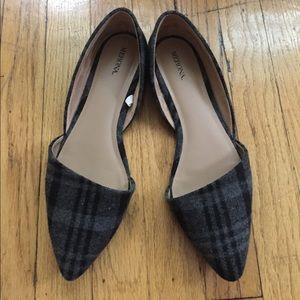 Merona Shoes - Plaid Merona D'Orsay Flats