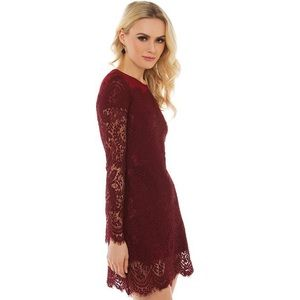 AKIRA Dresses & Skirts - NWT; Akira Black Label lace dress in Wine color