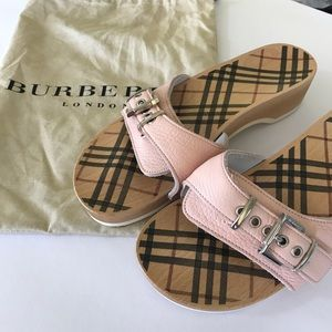 Burberry Shoes - Burberry baby blush pink leather slide 8