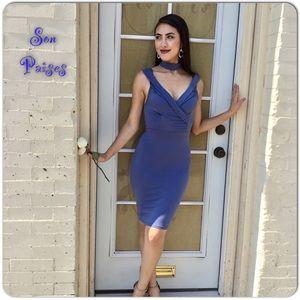 🆕Indigo Blue Choker Cocktail Dress