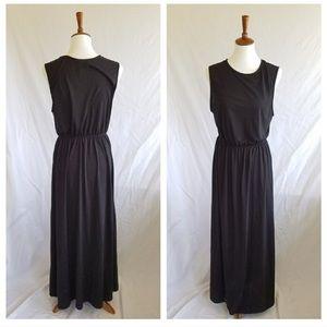 H&M Basic Black Tank Maxi Dress