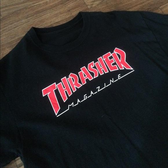 5db18fd51c3e Vintage Shirts | Thrasher Outline Logo Tee | Poshmark