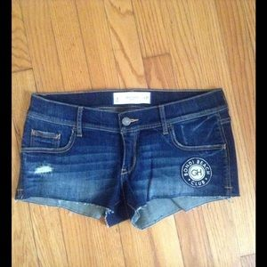 Gilly Hicks Classic Patch Denim Jean Shorts Sz 4