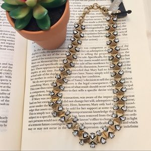 J. Crew Jewelry - J. Crew • Black & Gold Chain Necklace