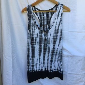 Active Ride Shop Tops - Long tie-dye blue tank top