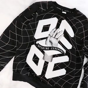 """Opening Ceremony Sweaters - Opening Ceremony """"Hands"""" Embroidery Sweatshirt"""