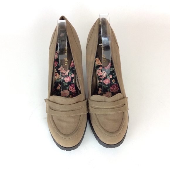 72f3bd3d6fc Madden Girl Taupe Penny Loafer Shoes Size 11