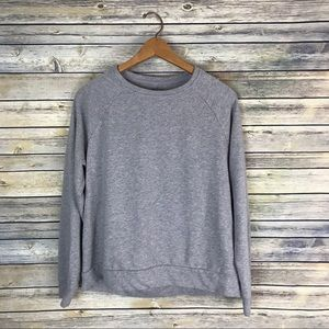 Fabletics Grey Open Back Sweatshirt