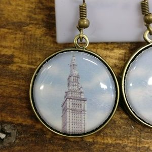 "Cleveland Terminal Tower ""Blue Sky"" Earrings"