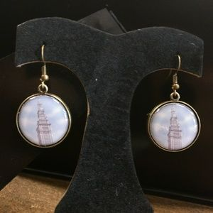 "CLE Threads Jewelry - Cleveland Terminal Tower ""Blue Sky"" Earrings"
