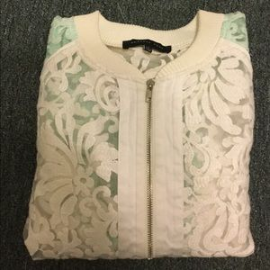 Endless Rose Jackets & Blazers - White jacket, with green sleeves