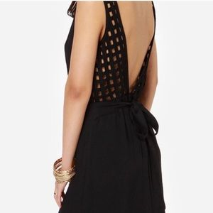 Never worn black LuLu's dress with awesome back