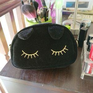 edae14db7f7 Nila Anthony Bags | Lovely And Lush Black Velvet Cat Bag | Poshmark