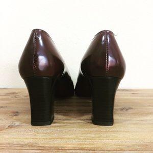 Stuart Weitzman Shoes - Stuart Weitzman mahogany brown leather heels shoes
