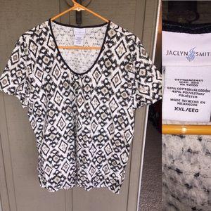 Jaclyn Smith Tops - Jaclyn smith animal print blouse