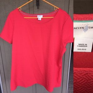 Jaclyn Smith Tops - Jaclyn smith coral bright colored Blouse