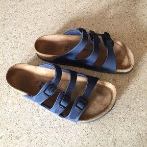 Birkenstock Shoes - Birkenstocks Size 39 Navy Blue