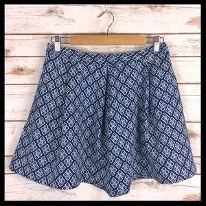 Piperlime Dresses & Skirts - piperlime // blue tile print flare mini skirt