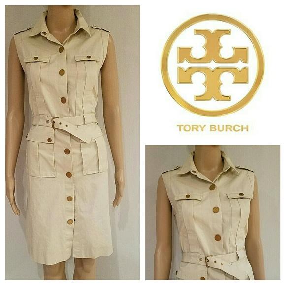 Top Tory Burch Dresses | Khaki Safari Style Shirt Dress | Poshmark NH62