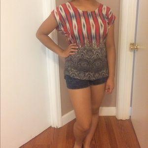 Pretty Rebellious Tops - Pretty rebellious shirt with designs