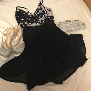Black Cocktail Dancing Dress