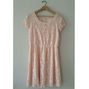 Anthropologie Dresses & Skirts - Anthropologie Pastel Pink Lace Dress