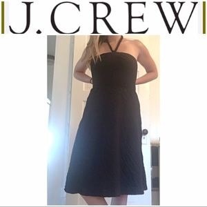 J Crew Black Halter Tie Summer Dress
